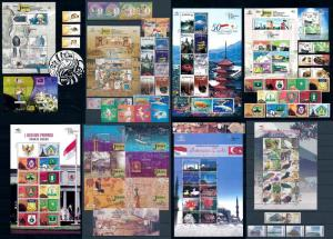 Indonesia Indonesien 2008 Complete Annee Year Set komplette Jahrgänge  MNH