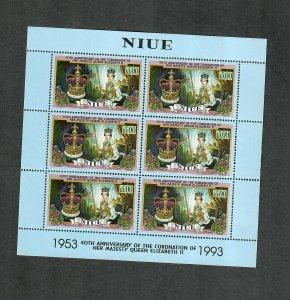 Niue Sc#661 M/NH, Mini Sheet Of 6, Cv. $63