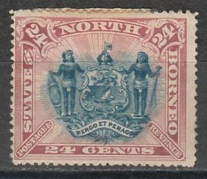 NORTH BORNEO 1894 ARMS 24C