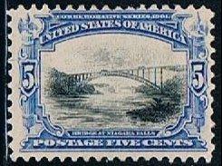 USA 297, 5c Bridge at Niagara, MLH, F-VF