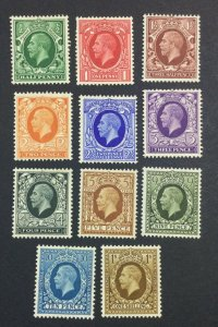 MOMEN: GREAT BRITAIN #439-449 MINT OG H £60 LOT #6841