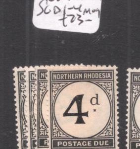 Northern Rhodesia Postage Due SG D1-4 MOG (1dek)