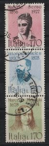 Italy 1978 Portraits 1.70l (3/6) strip 3 USED