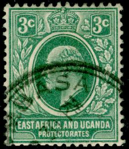 EAST AFRICA and UGANDA SG35a, 3c grey-green, FINE used.