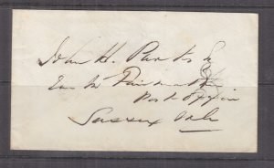 St. JOHN, NEW BRUNSWICK, 1858 cover, 3 handstamp in Black to Sussex.