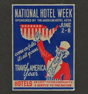 Uncle Sam National Hotel Week Poster Stamp