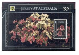 Jersey Sc 896 1999 Orchids Australia stamp sheet mint NH