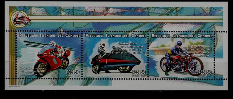 Comoro 935E MNH s/s Motorcycles SCV4.50
