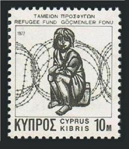 Cyprus RA 3,5,MNH.Mi Zw 3,5. Postal Tax Stamps 1977,1988.Child & barbed wire.