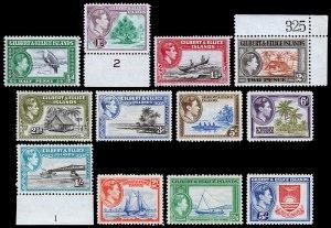 Gilbert & Ellice Islands Scott 40-51 (1939) Mint NH VF Complete Set, CV $70.00 C