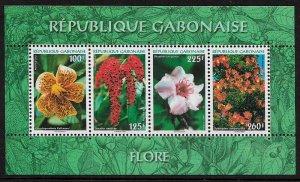 Gabon #1049a MNH S/Sheet - Flowers