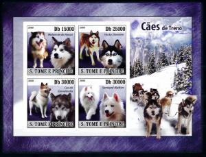 [96737] Sao Tome & Principe 2008 Pets Dog Sled Husky Imperf. Sheet MNH