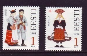 Estonia Sc 276-7 1994 Folk Costumes stamp set mint NH