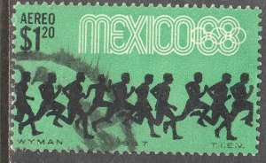 MEXICO C329, $1.20P Runners 3rd Pre-Olympic Set 1967 Used. VF. (678)