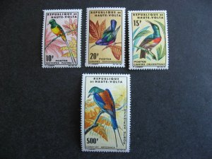 Burkina Faso birds Sc 136-8, C20 MNH 137 has gumspeck flaw. Check them out!