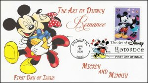 AO-4025-1, 2006, The Art of Disney, Add-on Cover, First Day Cover, DCP, Mickey