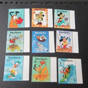 Turks & Caicos Is. Disney Sc 379-407 set MNH