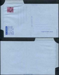 KGVI 6d Air Mail letter Sheet opt 6 annas mint