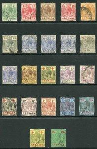 Grenada 1921 KGV wmk Script CA Used selection to 10/- (pmks not guaranteed)