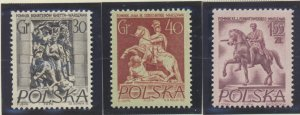 Poland Stamps Scott #737 To 739, Mint Lightly Hinged - Free U.S. Shipping, Fr...