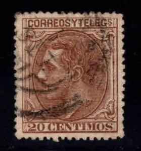 Spain 245 King Alfonso II 20c 1879 impressive used stamp