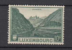 J25822  jlstamps 1935 luxembourg set of 1 mh #199 castle