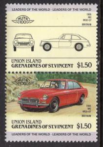 St Vincent Grenadines Union Island 158 Cars MNH VF