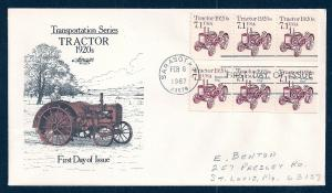 UNITED STATES FDC 7.1¢ Tractor PNC #1 DUAL 1987 Artmaster