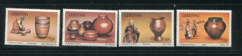 Lesotho MNH 297-300 Pottery Jugs