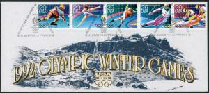 OLYMPICS ~ Albertville 1992 ~ Set Of 6 Official Commemorative Souv. Covers S3133