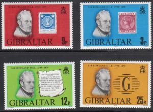 Gibraltar, Sc 378-381, MNH, 1979, Rowland Hill