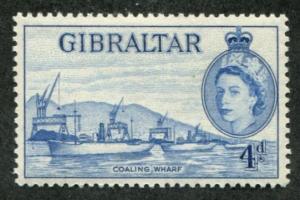 Gibraltar SC# 138 (SG 151) Coaling Wharf 4d MNH