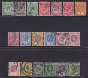 Straits Settlements 149-167 F-VF-used set nice colors cv $ 186 ! see pic !