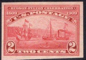 US Stamp #373 2c Hudson-Fulton Imperf MINT NH SCV $40