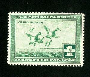 US Stamps # RW4 VF OG NH PO Fresh Few Tiny Natural Gum Skips Catalog Value $275