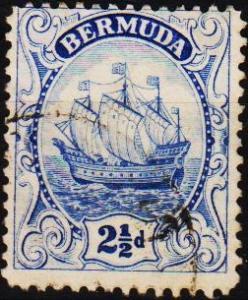 Bermuda. 1910 2 1/2d  S.G.82b  Fine Used