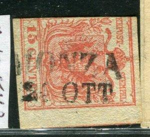 ITALY LOMBARDY VENETIA; 1850s classic fine used POSTMARK ITEM, MONZA