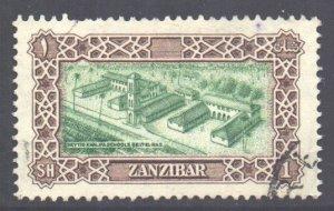 Zanzibar Scott 239 - SG348, 1952 Sultan 1/- used