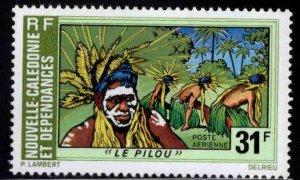 New Caledonia (NCE) Scott C124 MH* Pilou Dance stamp