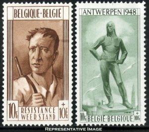 Belgium Webb B460-B461 Unused hinged.