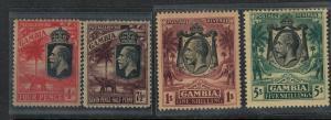 Gambia 1922 SC 121-124 Mint SCV$ 137.00 Set