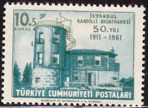 TURKEY Scott B81 MNH** Observatory Semi-Postal stamp
