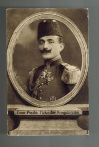 1915 Germany Feldpost Turkey Real Picture Postcard Cover Enver Pascha