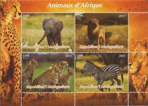 Madagascar MNH S/S African Wild Animals 2015