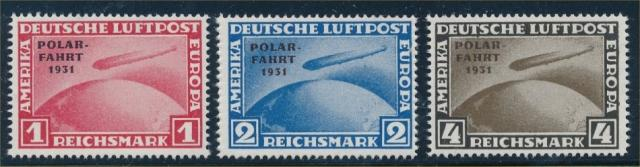 GERMANY #C40-C42 MINT FINE-VF NH NACHDRUCK PRINTED ON BACK. IF GOVERNMENT ISSU