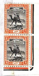 Sudan. 1922. pair 29 from the series. Camel, postman. MNH.