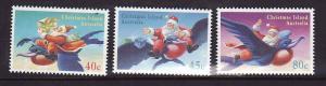 Christmas Is.-Sc#370-2-Unused NH set-Christmas-1995-