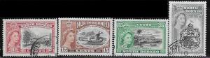 North Borneo 476 - 79 used 2017 SCV $4.70  complete  -- 12063