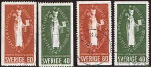 Sweden # 643 - 646 U