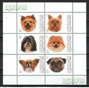 Adjaria, 1999 issue. Dog Faces sheet of 6.
